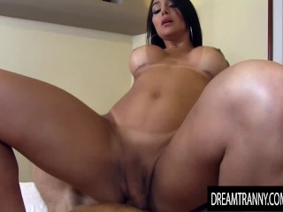 Heavenly Trans sweetie Jessy Lemos Bounces Her big booty on Lucky BFs schlong