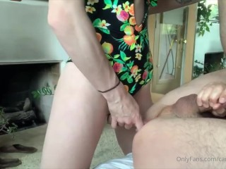 Topping a lover friend for the first time! I make him sperm so much from my schlong | Carrie Emberlyn