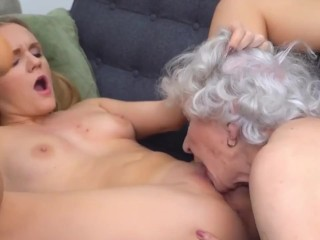 girl seduces old grandmother