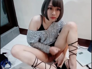 Taiwan CDcrossdressing, and jerking off part2.