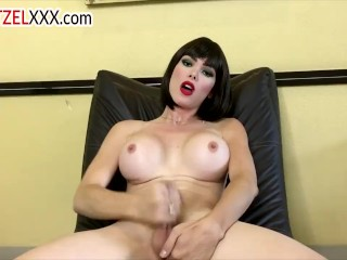GIA ITZEL ravishing shemale, Strip and Masturbation