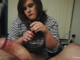 Sissy CD loves to blow thick Daddy dick