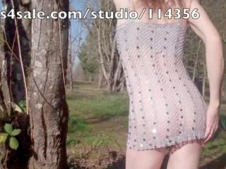 Heteroflexible K is naked outside public nudity flashing crossdressing kink