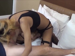 shemale Barbie Frottage Handjob & Facial