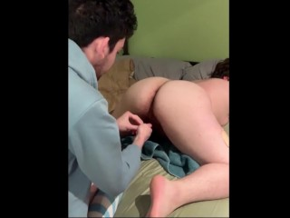 charming FTM teases crossdressing BF; He turns the tables and fucks him hard!