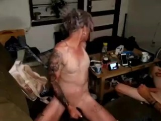 tranny Playswith Her chick cock while man watches