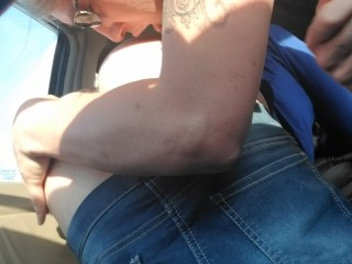 Sissy Krystal Trans Lesbian Public Car play rimming #1